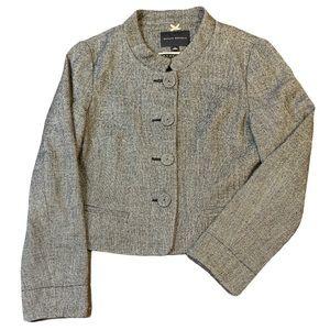 BANANA REPUBLIC Tweed cropped blazer jacket